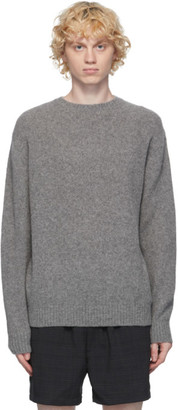 Beams Grey Cashmere and Silk Sweater