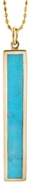 Jennifer Meyer Vertical Turquoise Inlay Bar Necklace