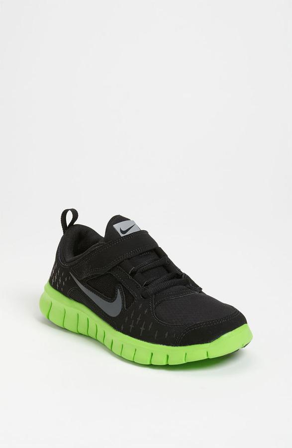 Nike 'Free Run 3' Sneaker (Baby, Walker, Toddler & Little Kid) Black/ Silver/ White/ Grey 11.5 M