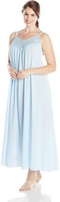Shadowline Women's Plus-Size Beloved 53 Inch Braided Spaghetti Strap Long Gown