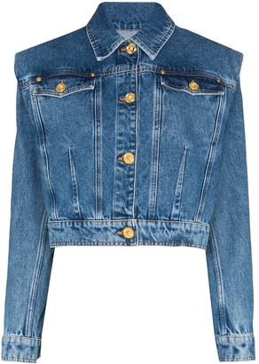 Versace Cropped Denim Jacket