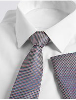 M&S Collection Pure Silk Textured Tie & Pocket Square Set