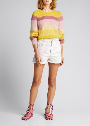 Etoile Isabel Marant Daniel Rainbow Stripe Sweater