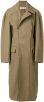 Marni structured asymmetric trench coat