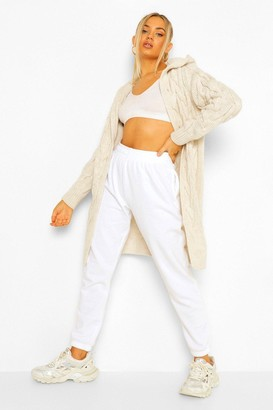 boohoo Cable Knit Hooded Cardigan
