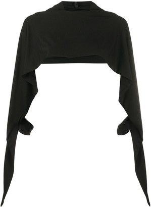 Unravel Project Draped Sleeve Crop Top