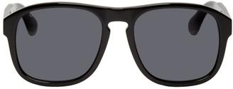 Gucci Black Sporty Square Sunglasses
