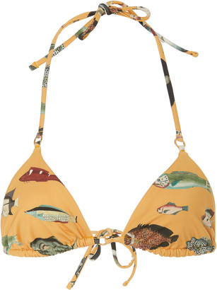 Agua Bendita Lolita Printed Triangle Bikini Top