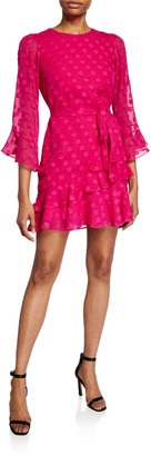 Saloni Marissa B Polka Dot Mini Dress