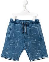 Diesel drawstring printed shorts - kids - Cotton - 10 yrs