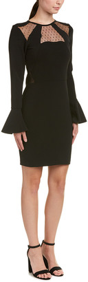 Parker Swissdot Insert Sheath Dress