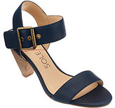 Sole Society As Is Leather Ankle Strap Block Heel Sandals - Missy