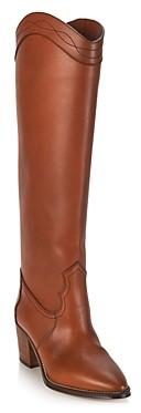 Saint Laurent Women's Kate Western Block Heel Boots