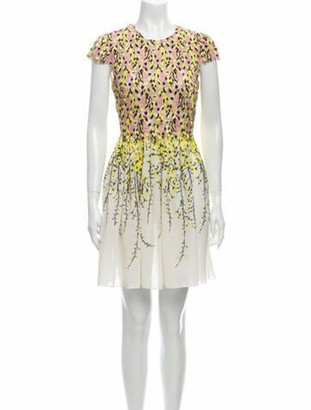 Giambattista Valli Silk Mini Dress Pink