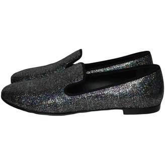 Giuseppe Zanotti Black Glitter Flats