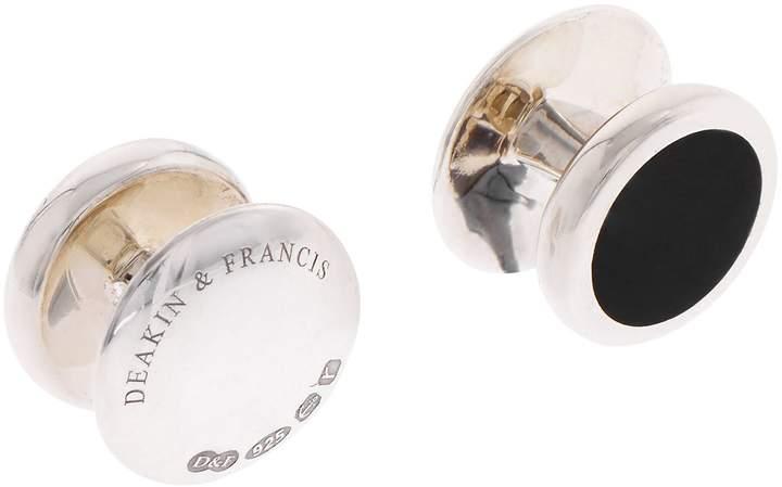 Deakin & Francis Oval Onyx Dress Studs Set