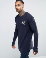 SikSilk Indigo Long Sleeve T-Shirt