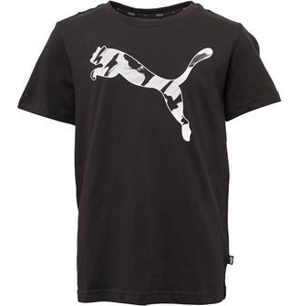 Puma Boys Graphic Cat T-Shirt Black