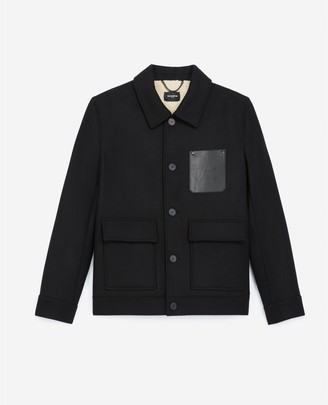 The Kooples Black wool jacket with breast pocket
