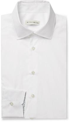 Etro Light-Blue Slim-Fit End-On-End Cotton Shirt