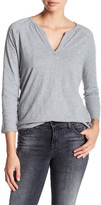 Levi's Levi&s Long Sleeve Open Henley Smokestack Heather Tee