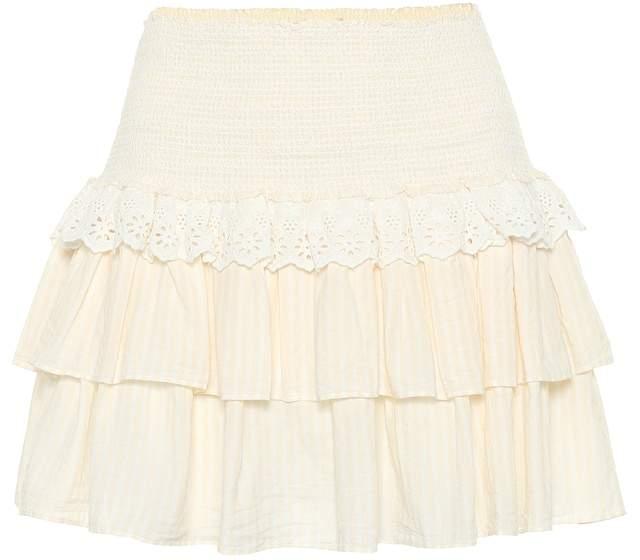 LoveShackFancy Dana cotton miniskirt