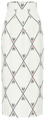 Emilia Wickstead Lorinda georgette pencil skirt