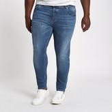 River Island Big and Tall mid blue Sid skinny fit jeans