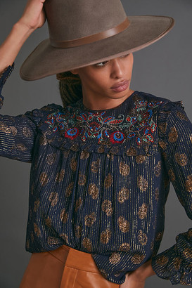 Francie Embroidered Blouse By Verb by Pallavi Singhee in Assorted Size XS
