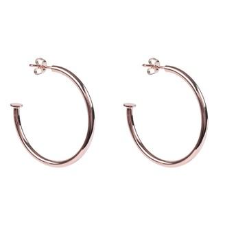 Rosegold Nailed It 4cm Hoop Earrings