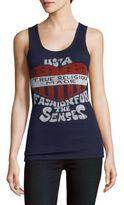 True Religion Logo-Print Scoopneck Tank Top