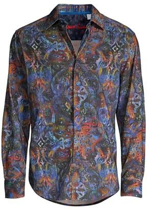 Robert Graham Lucy Diamond Cotton Shirt