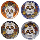 Williams-Sonoma Williams Sonoma Halloween Day of the Dead Mixed Salad Plates, Set of 4