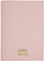 Dolce & Gabbana Pink Leather Passport Holder