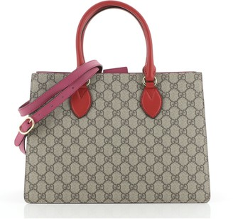 Gucci Convertible Gusset Tote GG Coated Canvas Medium