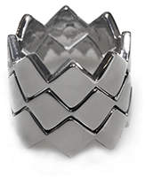 PeepToe Jagged Ring Set Silver