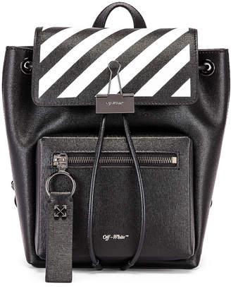 Off-White Off White Diagonal Binder Backpack in Black & White | FWRD