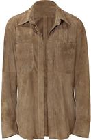 Balmain Pistachio Buttonless Suede Jacket/Blouse