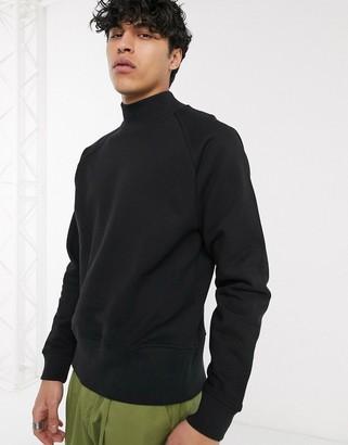 ASOS sweatshirt with turtle neck in black
