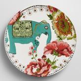 Cost Plus World Market Turquoise Nomad Elephant Plates, Set of 4
