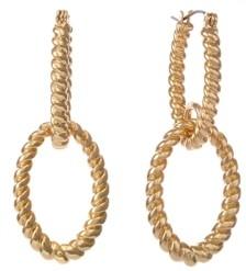 Christian Siriano New York Chiristian Siriano New York Gold Tone Twisted Double Loop Drop Earrings