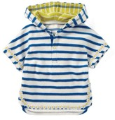 Toddler Girl's Mini Boden Stripe Towelling Poncho