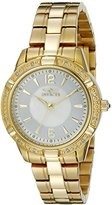 """Invicta Women's 18034 """"Angel"""" Diamond-Accented 18k Gold Ion-Plated Stainless Steel Watch"""