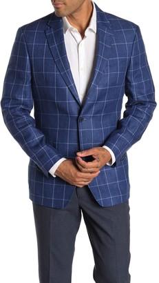 Tommy Hilfiger Linen Windowpane Suit Separates Blazer