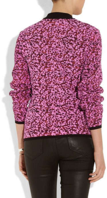 McQ Textured-print knitted sweater