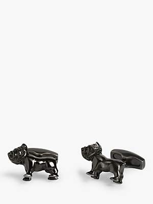Simon Carter Bulldog Cufflinks, Antique Brass