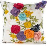 Mackenzie Childs MacKenzie-Childs Covent Garden Floral Square Pillow