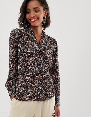 Y.A.S floral top with button detail