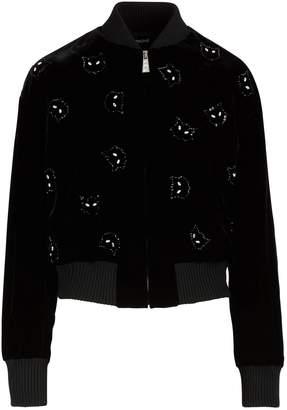Miu Miu Velvet bomber jacket