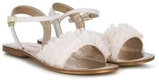 Billieblush 10mm Ruffle Detail Sandals
